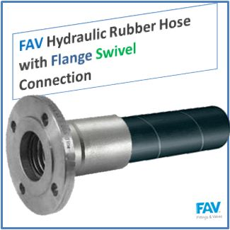 Hydraulic Rubber Hose with Flange Swivel Connection