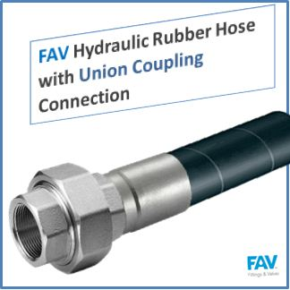 Hydraulic Rubber Hose with Union Coupling Connection