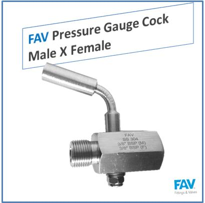 Pressure Gauge Cock Male X Female